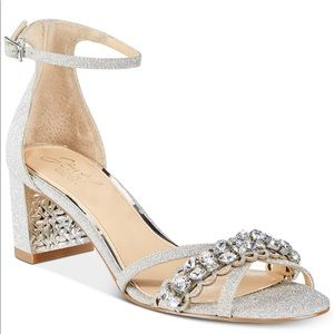 Glittery with jewel heels by Badgley Mischka